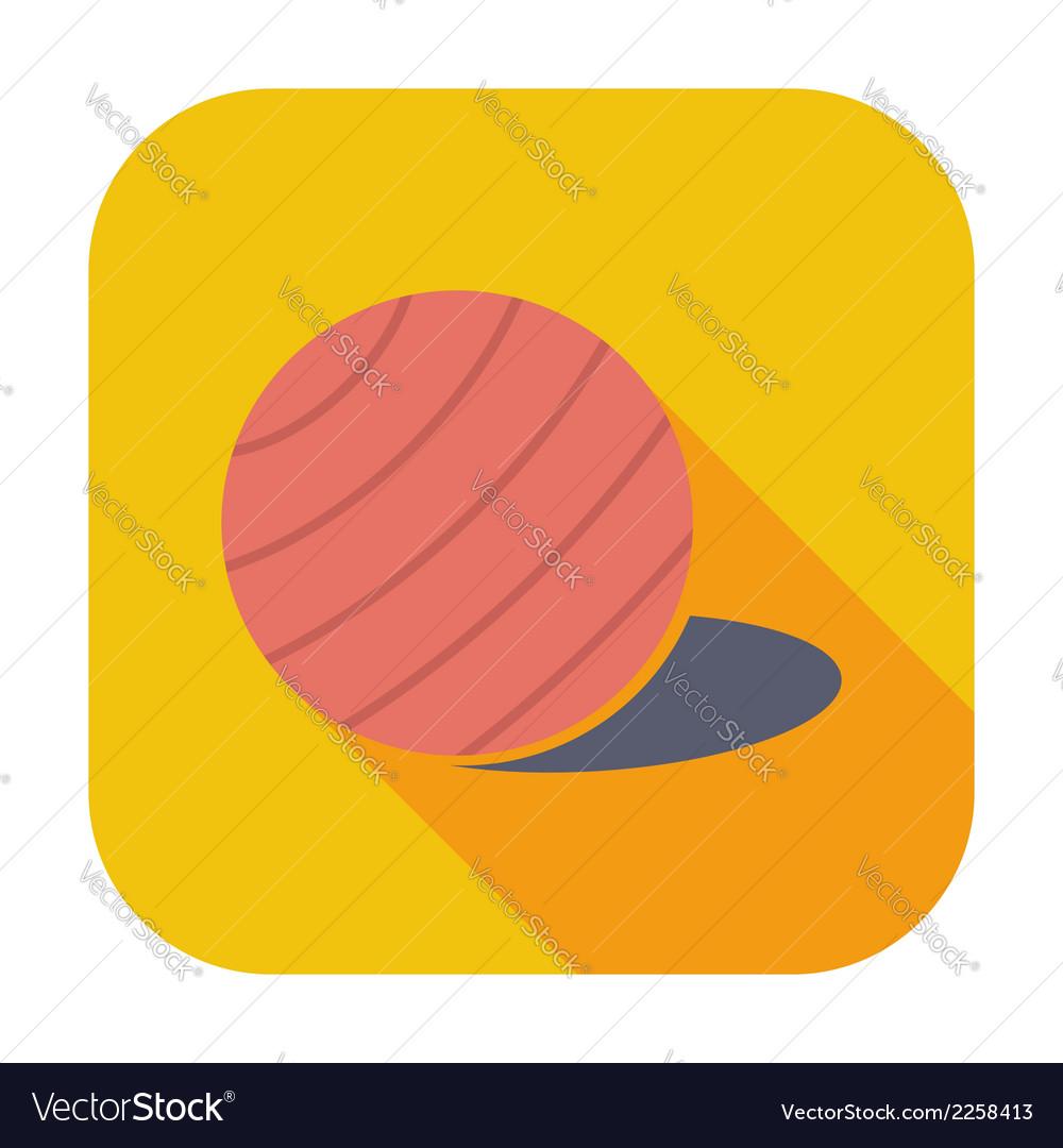 Fittball single icon vector | Price: 1 Credit (USD $1)