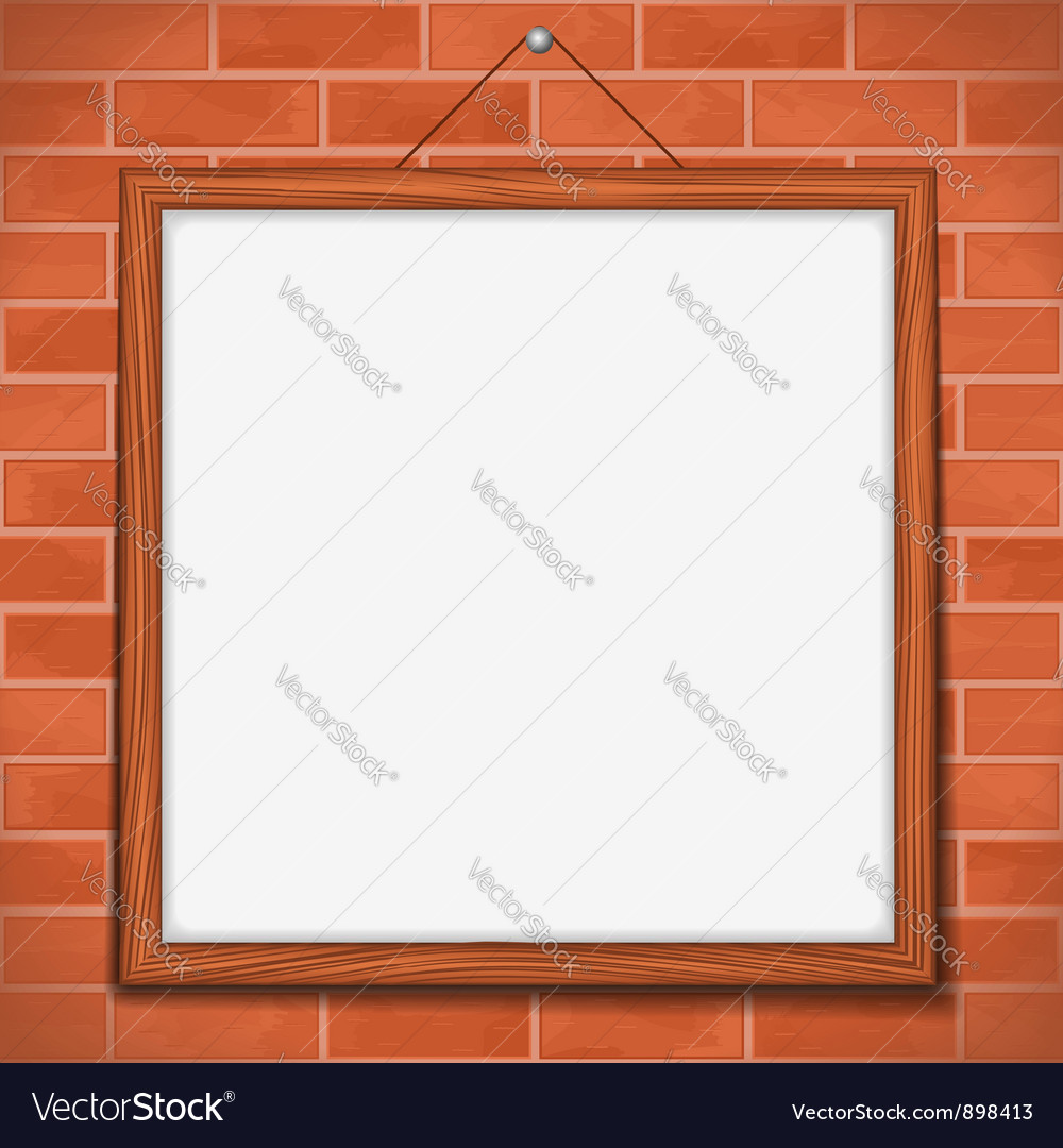 Frame on brick wall vector | Price: 1 Credit (USD $1)