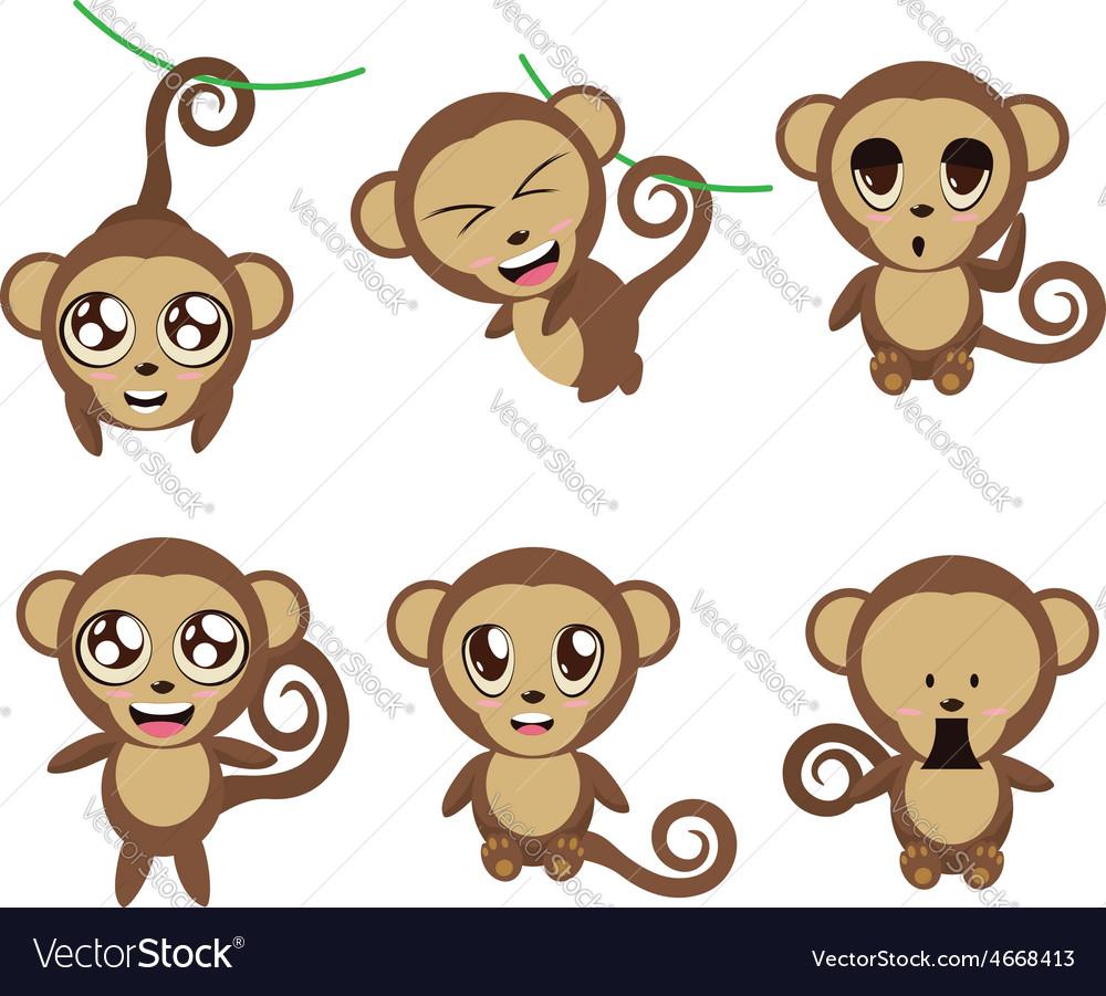 Funny monkeys vector | Price: 1 Credit (USD $1)