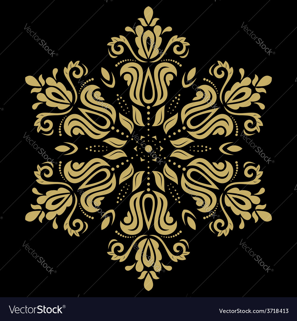 Golden pattern orient ornament vector | Price: 1 Credit (USD $1)