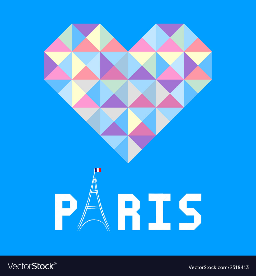 I love paris card6 vector | Price: 1 Credit (USD $1)