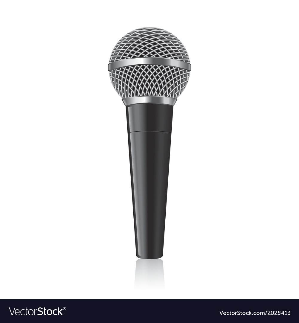 Object modern microphone vector | Price: 1 Credit (USD $1)