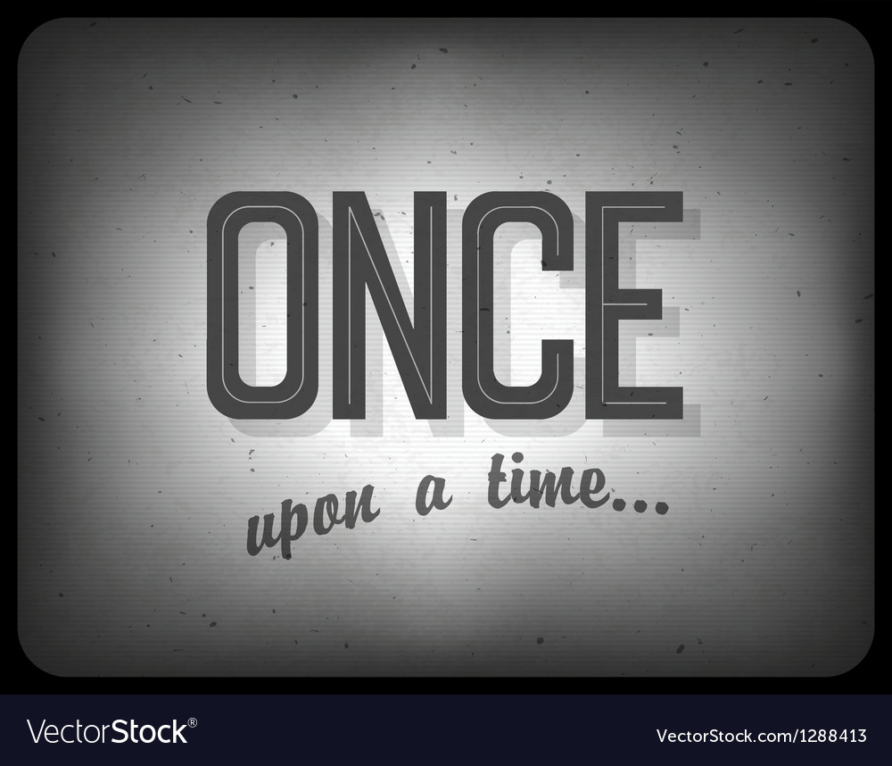Once upon a time vector | Price: 1 Credit (USD $1)