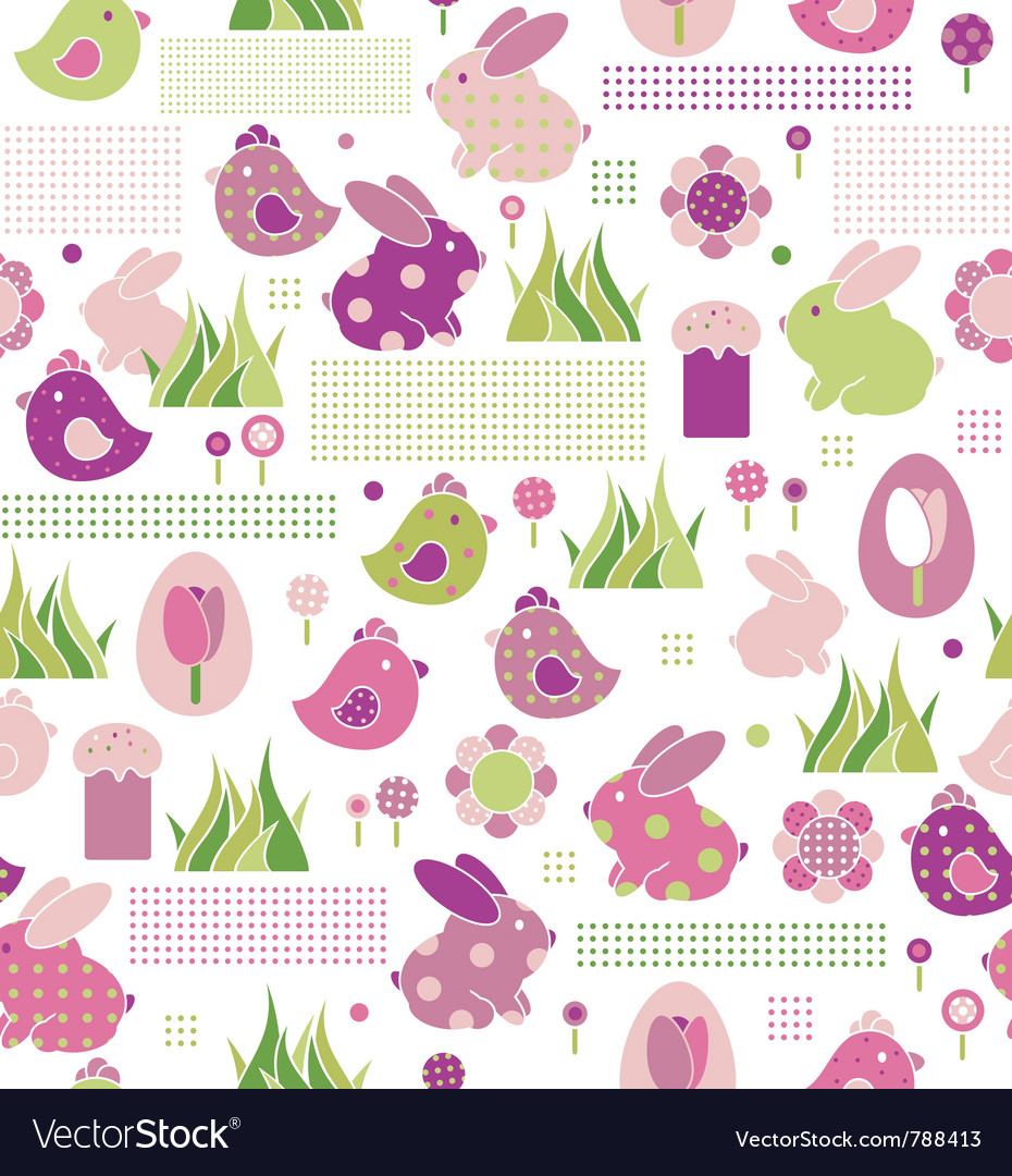 Seamless pattern for easters design vector   Price: 1 Credit (USD $1)