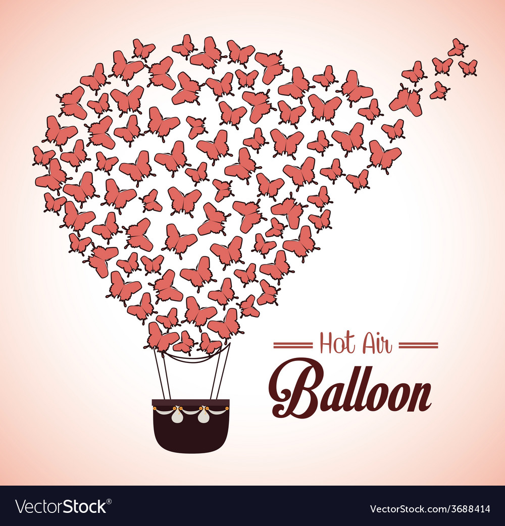 Airballoon design over beige background vector | Price: 1 Credit (USD $1)