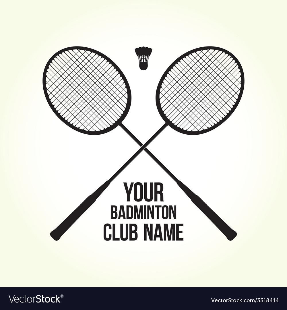 Badminton rackets silhouette club logo vector | Price: 1 Credit (USD $1)