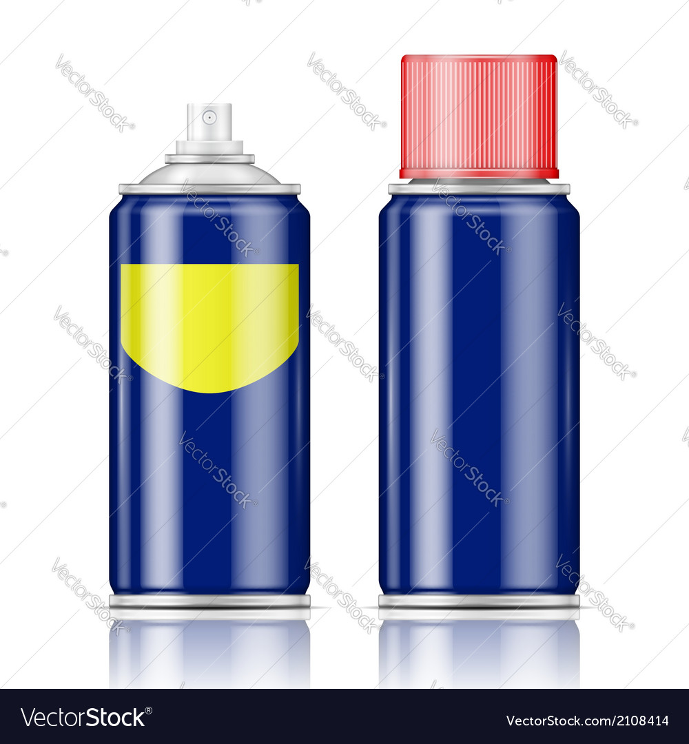 Blue spray can with red cap vector | Price: 1 Credit (USD $1)