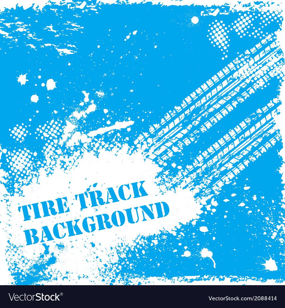 Blue tire track backgound vector | Price: 1 Credit (USD $1)