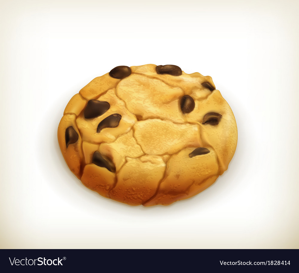 Chocolate cookie icon vector | Price: 1 Credit (USD $1)
