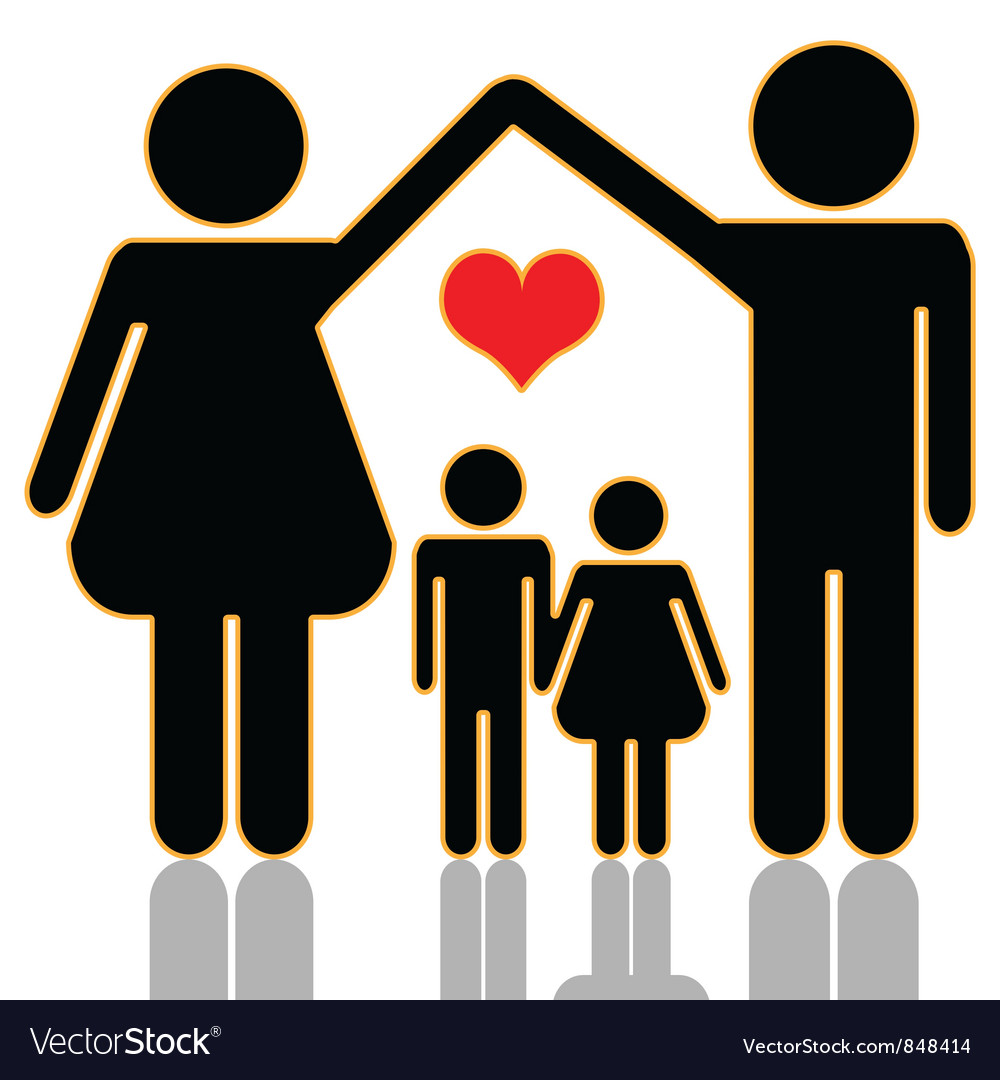 Family home vector | Price: 1 Credit (USD $1)