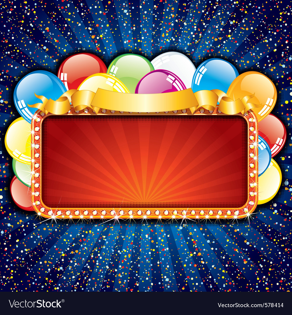 Happy birthday sign with colorful balloons vector | Price: 1 Credit (USD $1)