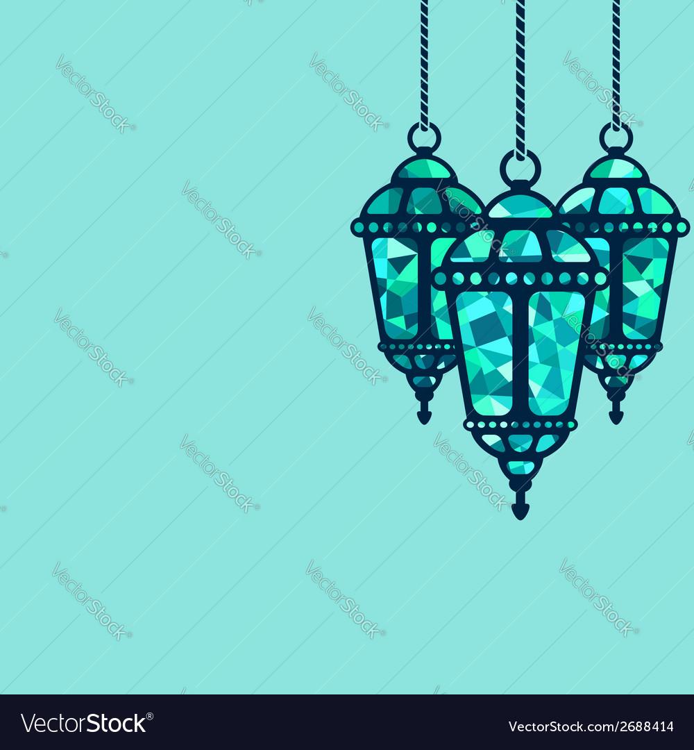 Ramadan lantern background vector | Price: 1 Credit (USD $1)
