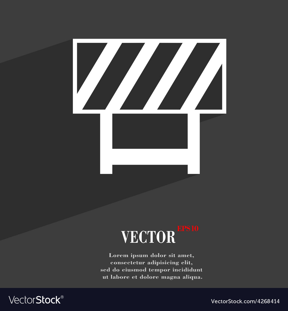 Road barrier icon symbol flat modern web design vector | Price: 1 Credit (USD $1)