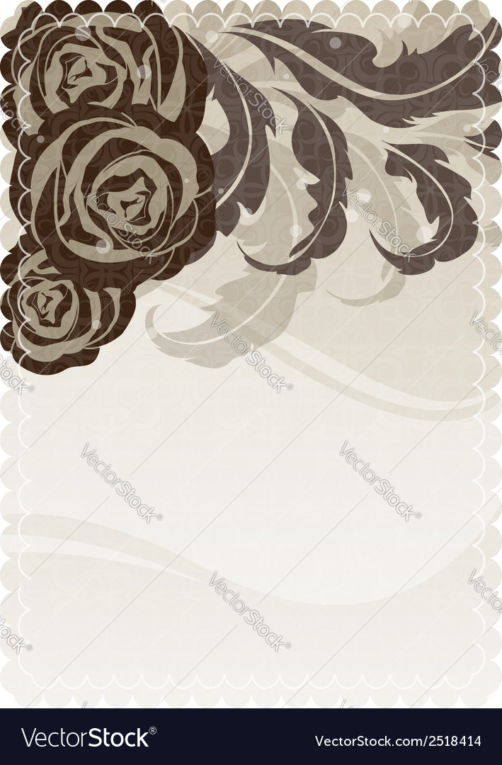 Silhouettes of roses and leaves vector | Price: 1 Credit (USD $1)