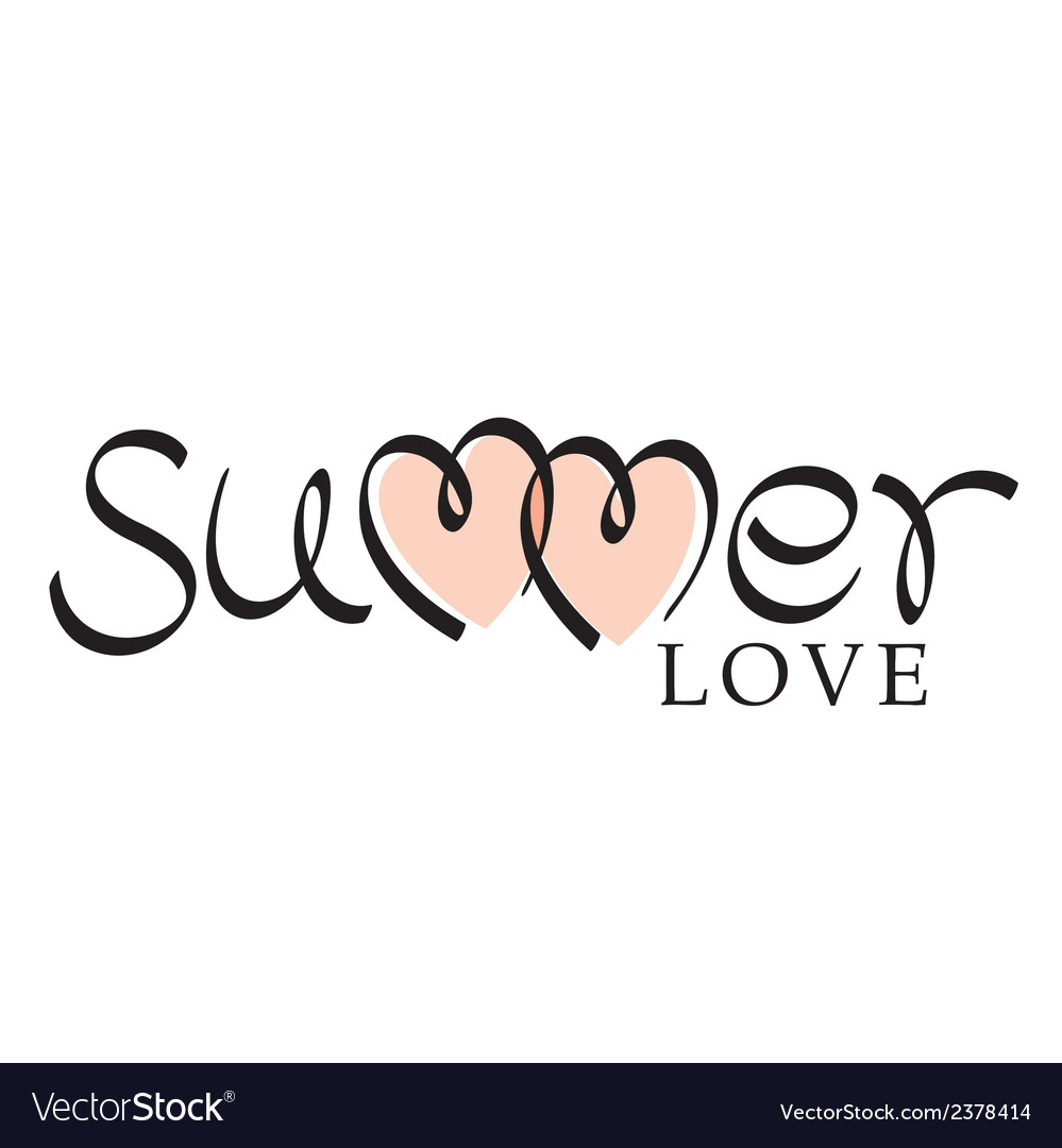 Summer love hand lettering vector | Price: 1 Credit (USD $1)