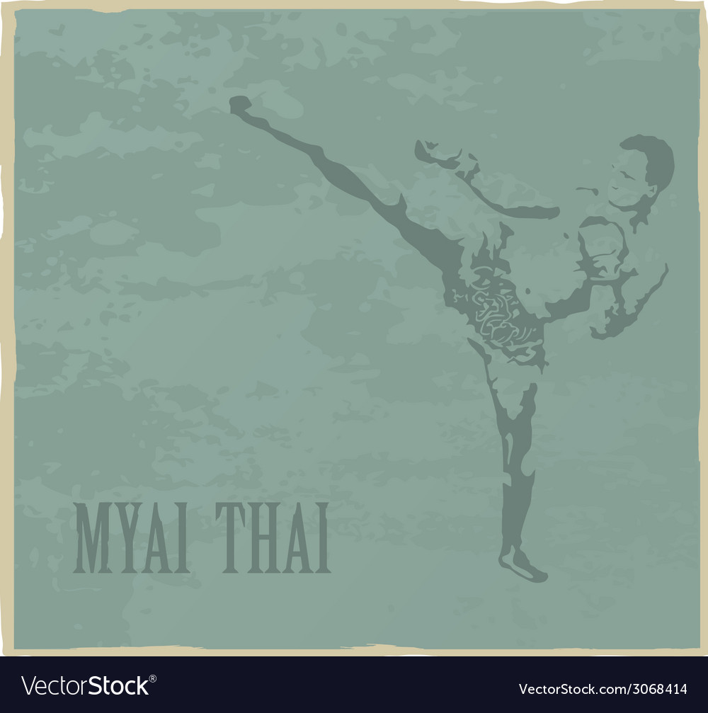 Thai boxing vector | Price: 1 Credit (USD $1)