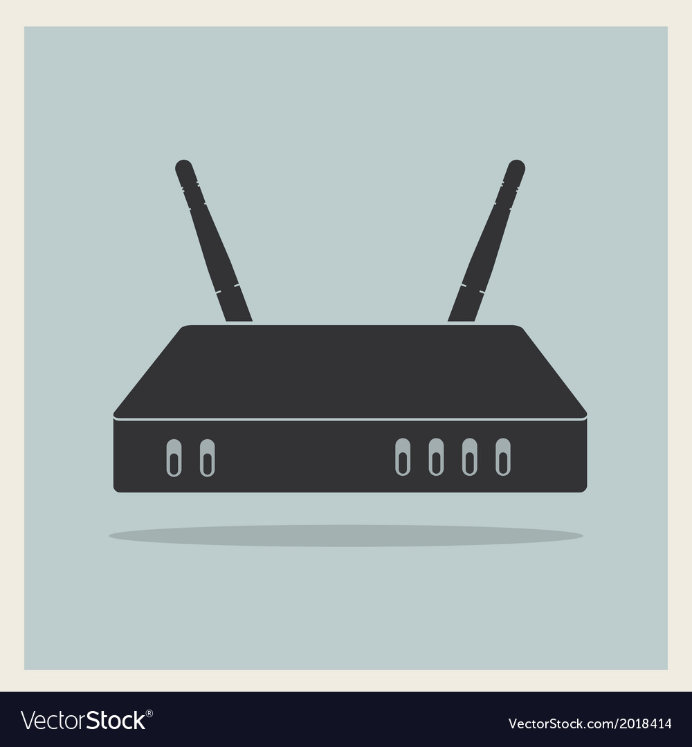 Wi-fi router on blue retro background vector | Price: 1 Credit (USD $1)