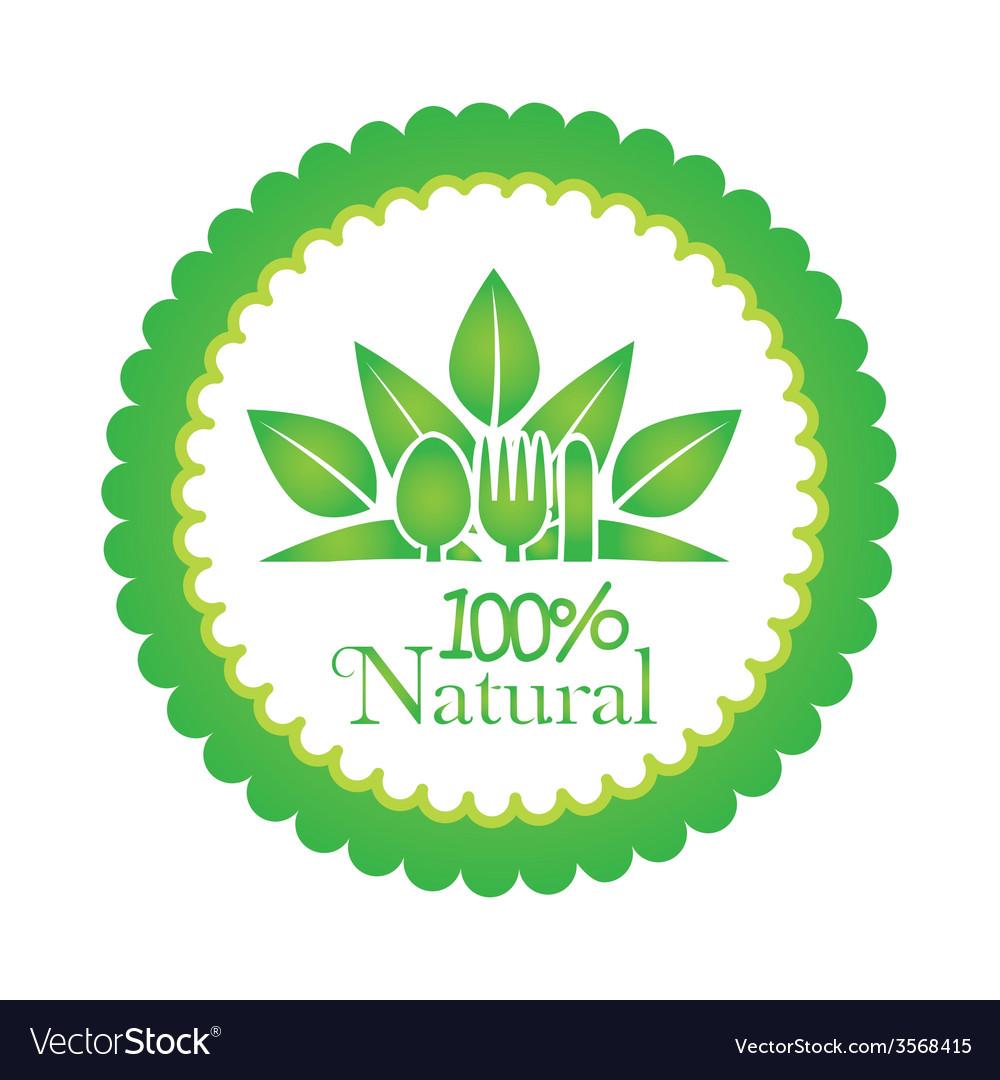100 percent natural design vector | Price: 1 Credit (USD $1)