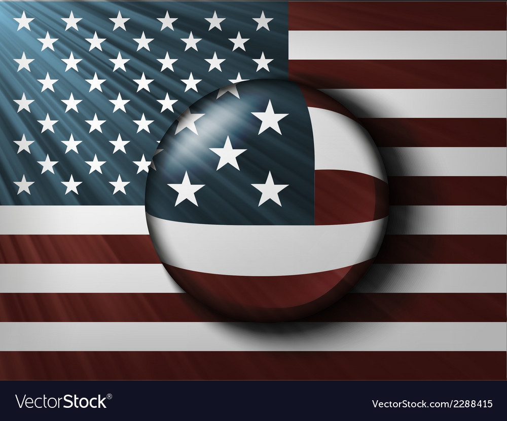 American flag with the rays vector | Price: 1 Credit (USD $1)