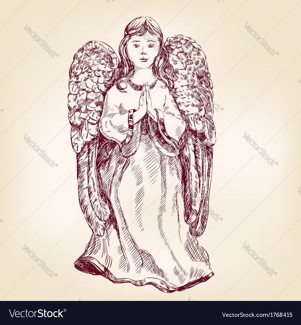 Angel hand drawn vector | Price: 1 Credit (USD $1)