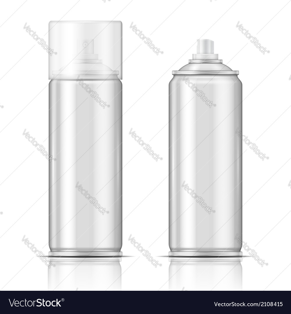 Blank aluminium spray can template vector | Price: 1 Credit (USD $1)