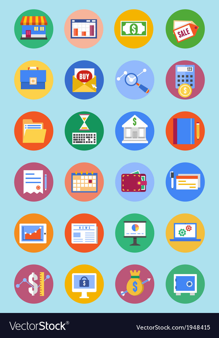 Business and analytics icons vector | Price: 1 Credit (USD $1)