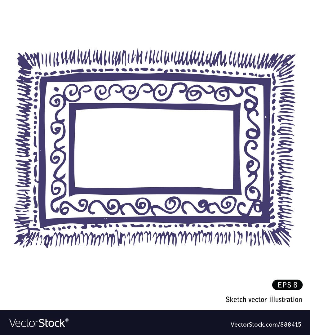 Carpet frame vector | Price: 1 Credit (USD $1)