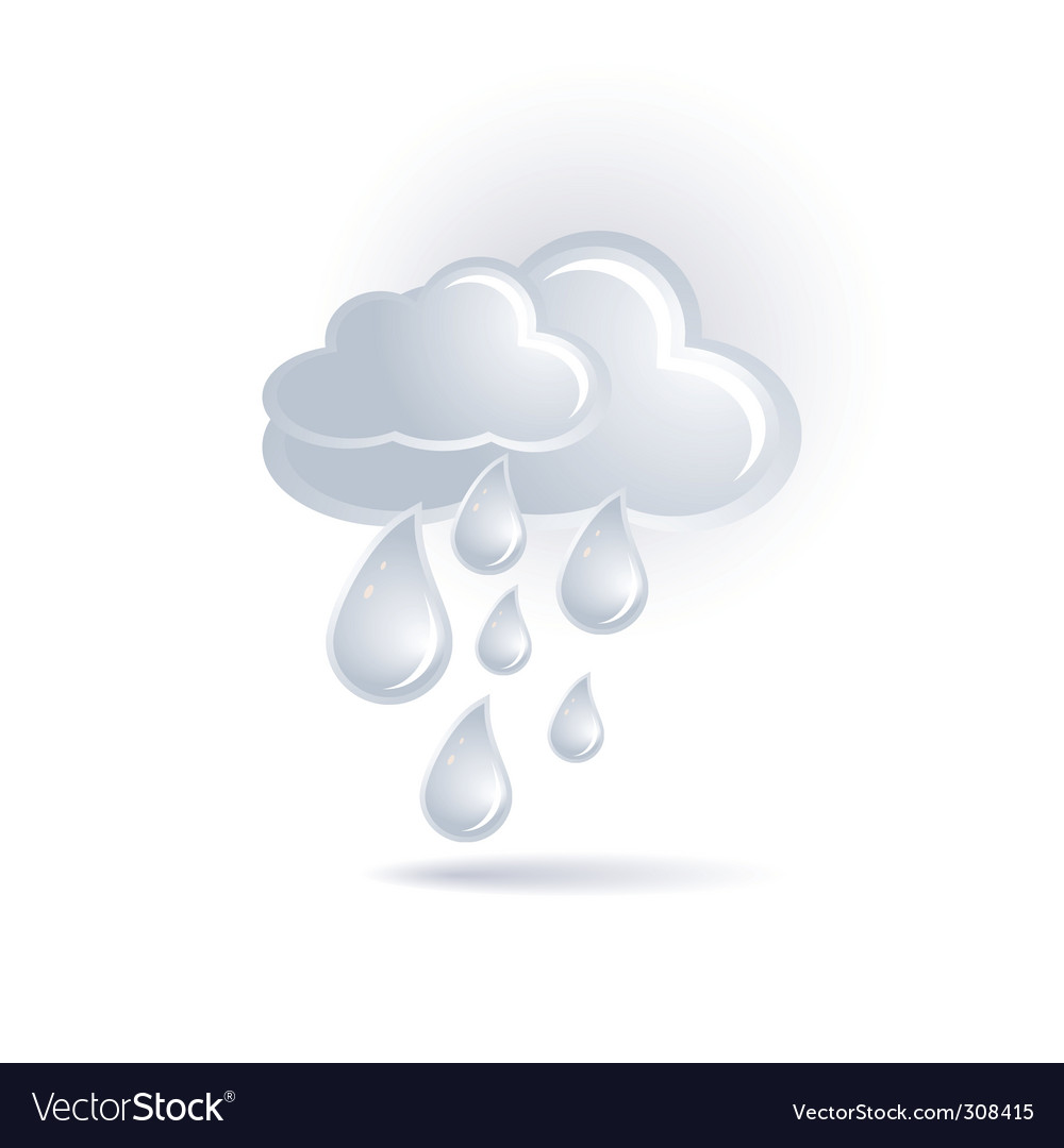 Cloud and rain vector | Price: 1 Credit (USD $1)