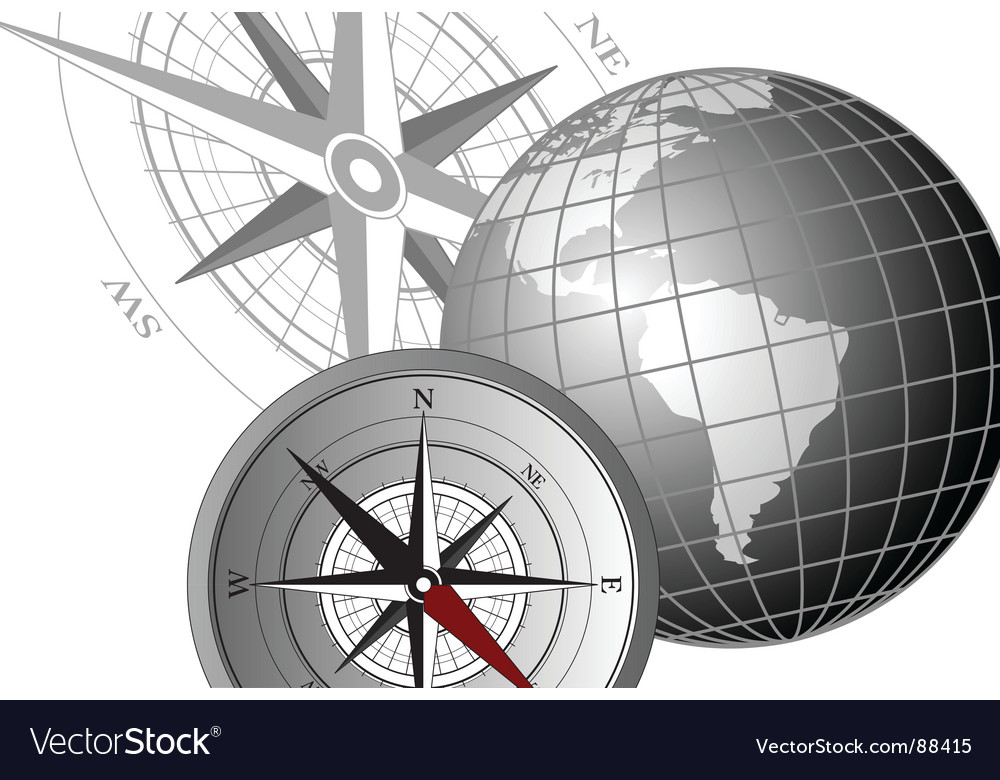 Compass america vector | Price: 1 Credit (USD $1)