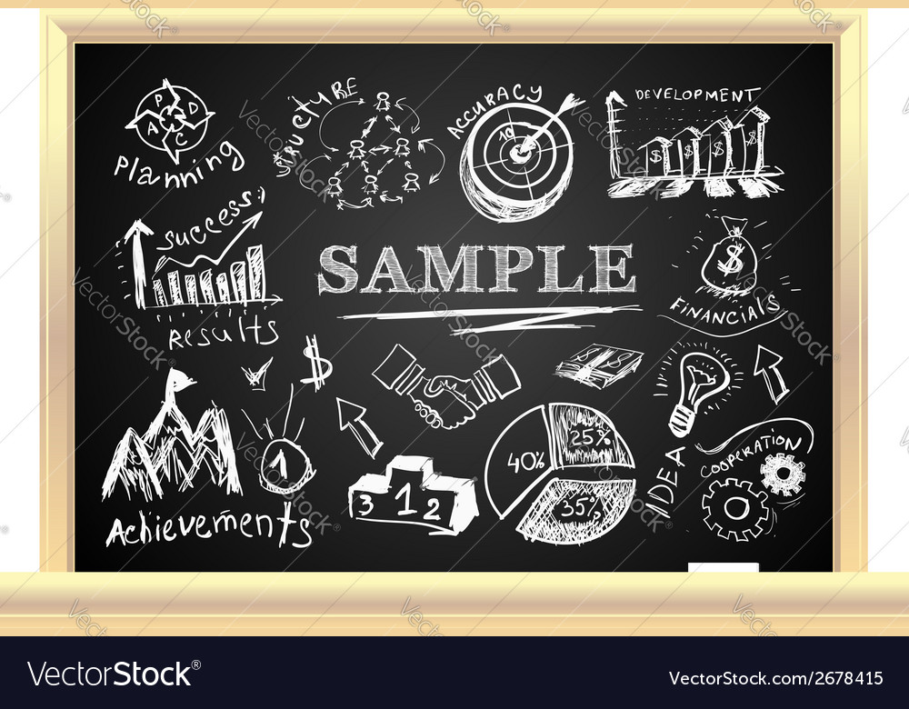 Creative blackboard idea vector | Price: 1 Credit (USD $1)