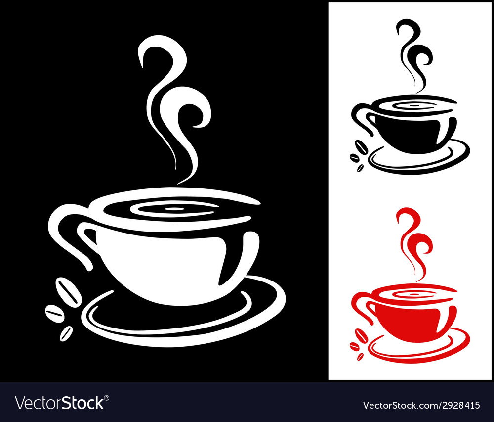 Cup of coffee background vector | Price: 1 Credit (USD $1)