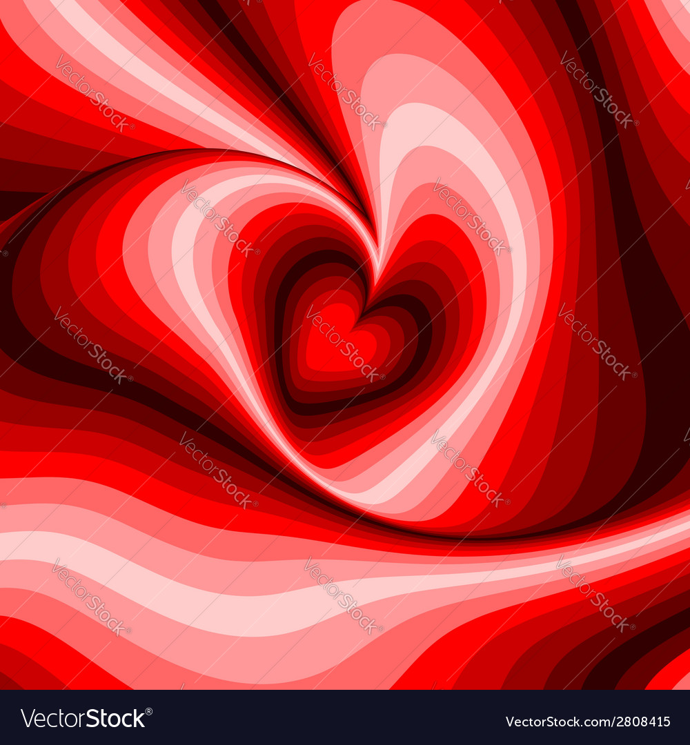 Design heart whirl rotation background vector | Price: 1 Credit (USD $1)
