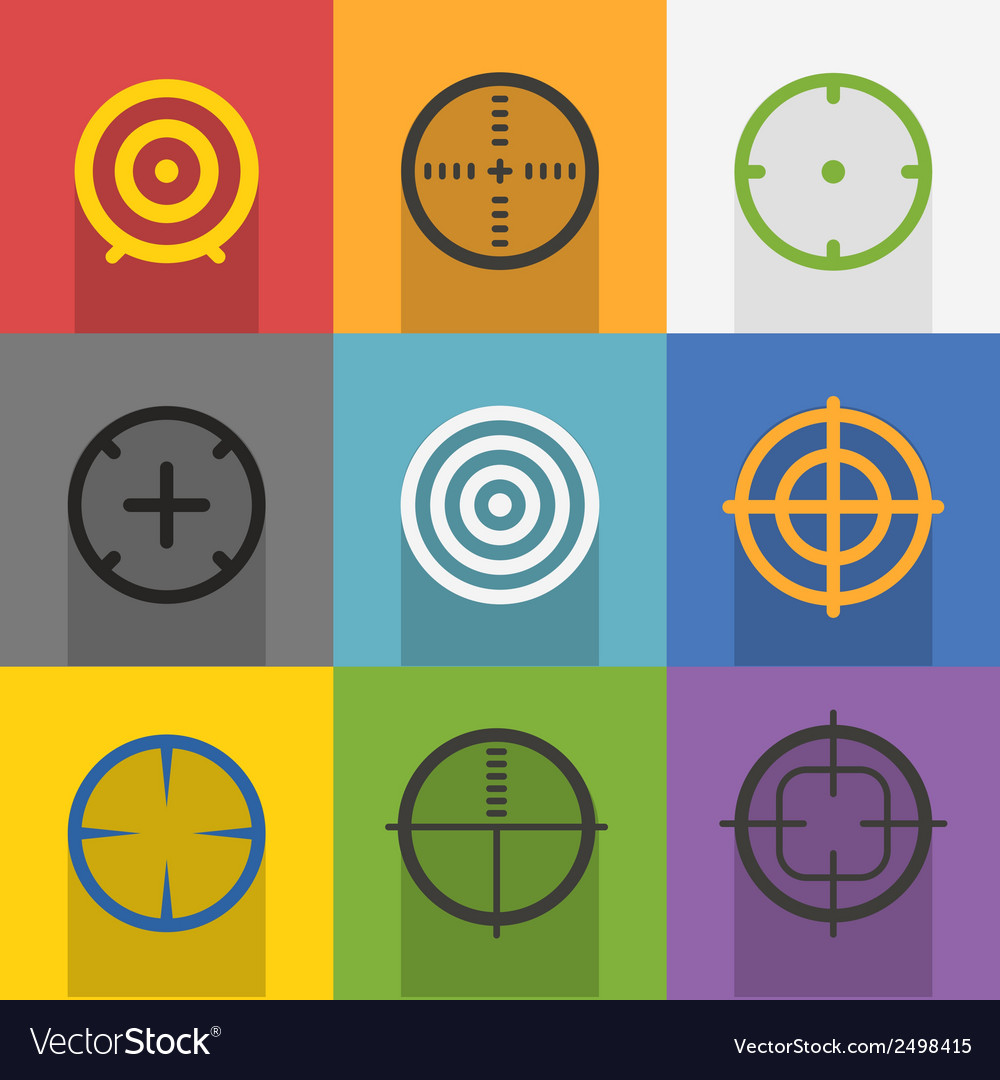 Different targets collection vector | Price: 1 Credit (USD $1)