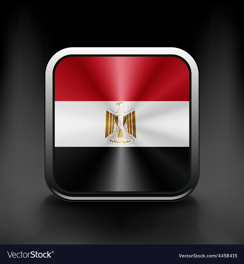 Egypt icon flag national travel icon country vector | Price: 1 Credit (USD $1)