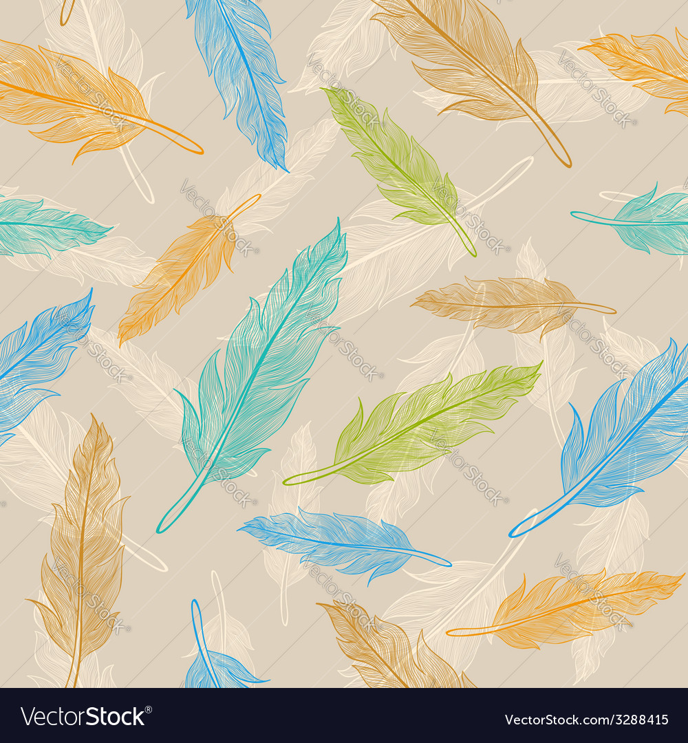 Feather pattern pastel vector | Price: 1 Credit (USD $1)
