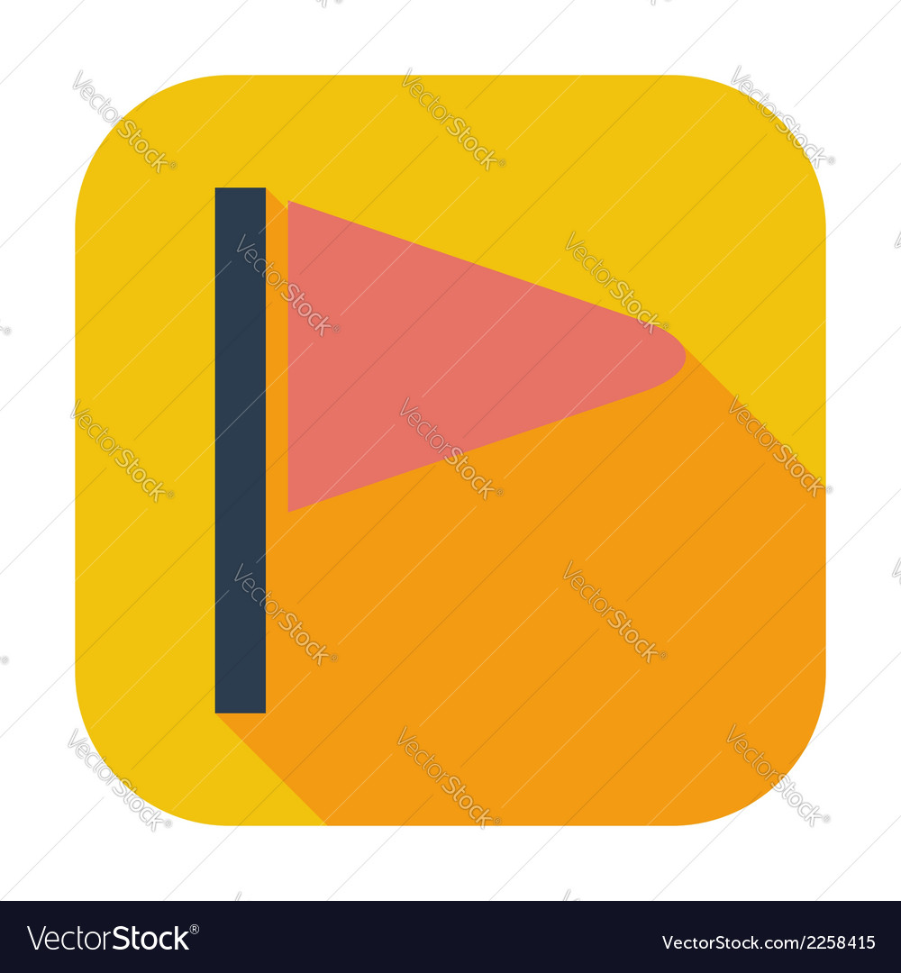 Flag flat single icon vector   Price: 1 Credit (USD $1)