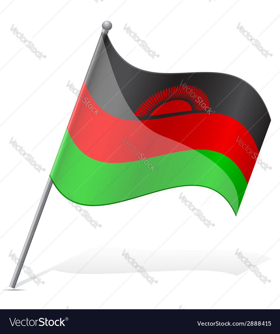 Flag of malawi vector | Price: 1 Credit (USD $1)
