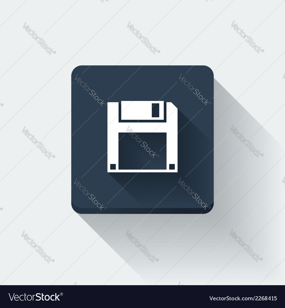 Floppy disc icon vector | Price: 1 Credit (USD $1)