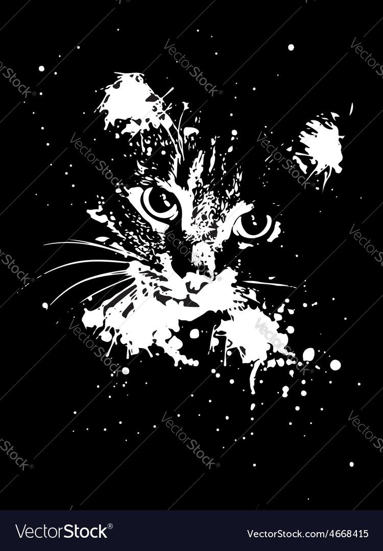 Grunge cat vector | Price: 1 Credit (USD $1)