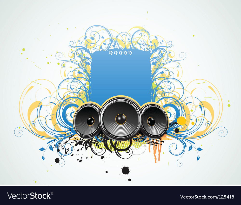 Grunge music frame vector | Price: 1 Credit (USD $1)