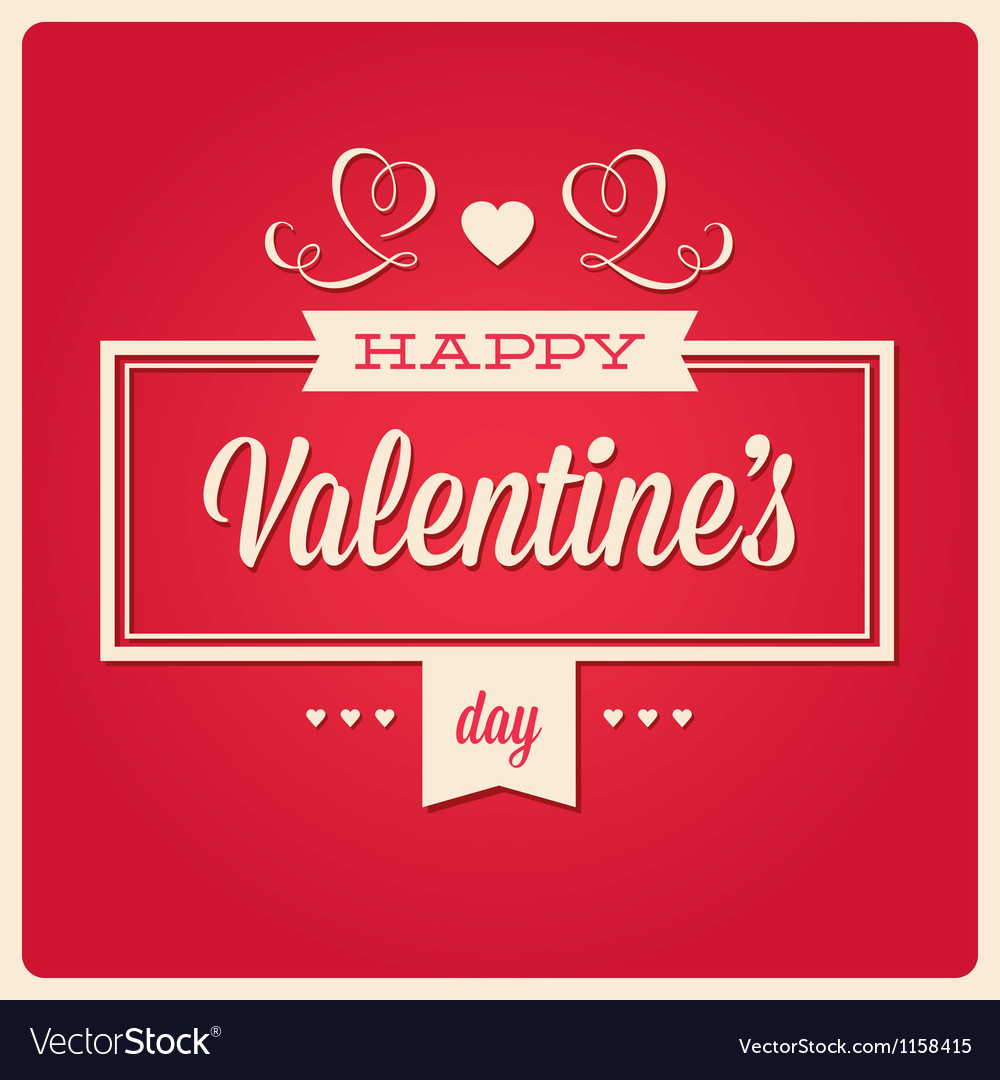 Happy valentines day card ornaments vector | Price: 1 Credit (USD $1)