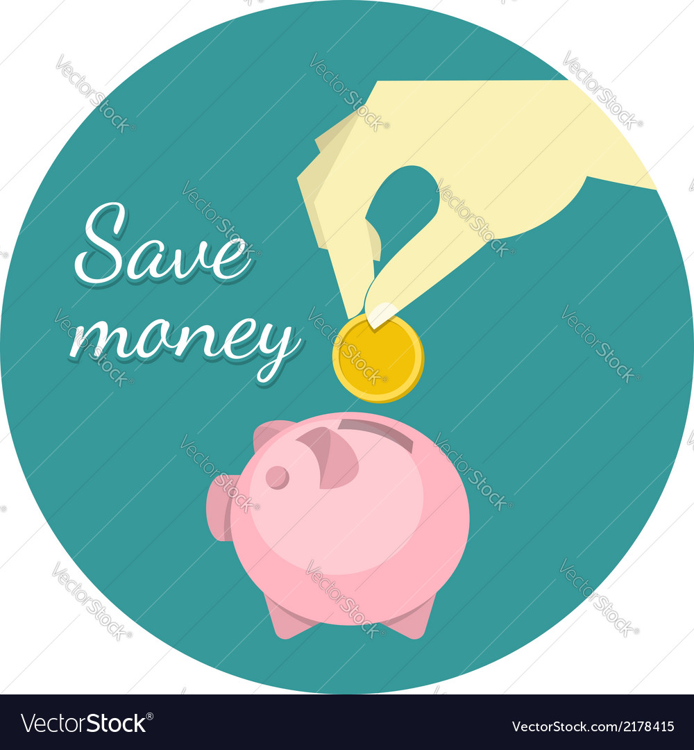 Save money concept vector | Price: 1 Credit (USD $1)