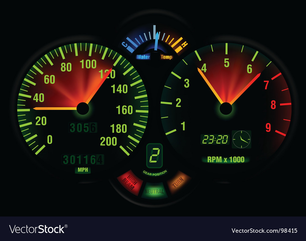 Speedometer panel vector | Price: 1 Credit (USD $1)