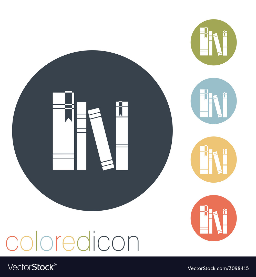 Spines of books vector | Price: 1 Credit (USD $1)