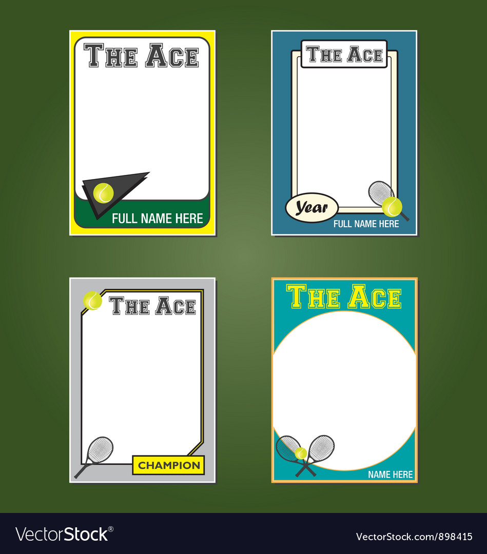 Tennis cards vector | Price: 1 Credit (USD $1)