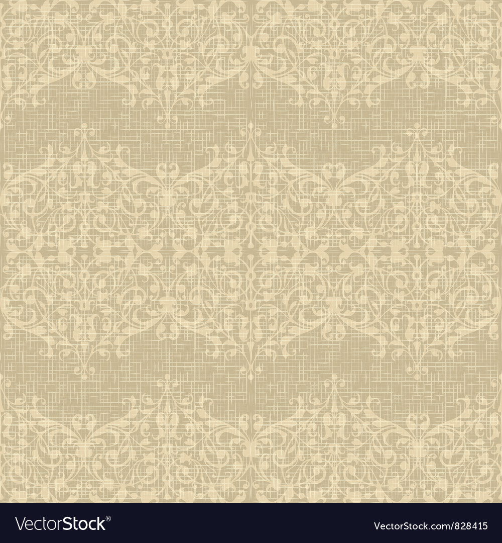 Vintage seamless floral background vector | Price: 1 Credit (USD $1)