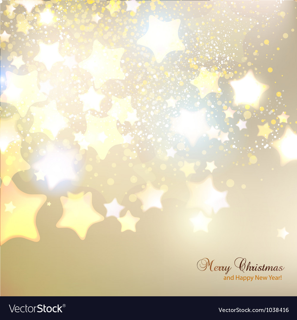 Elegant christmas background with stars and place vector | Price: 1 Credit (USD $1)
