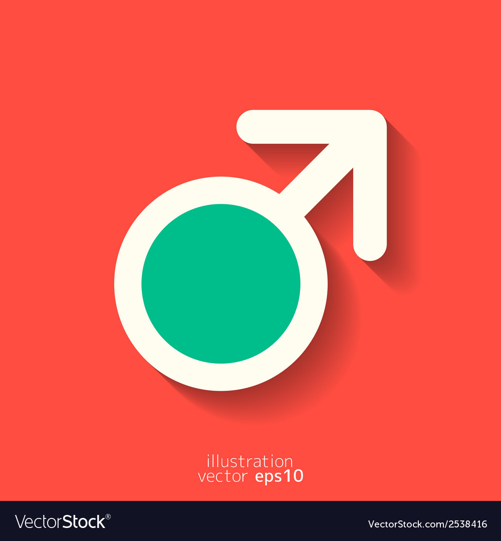 Male symbol man vector | Price: 1 Credit (USD $1)