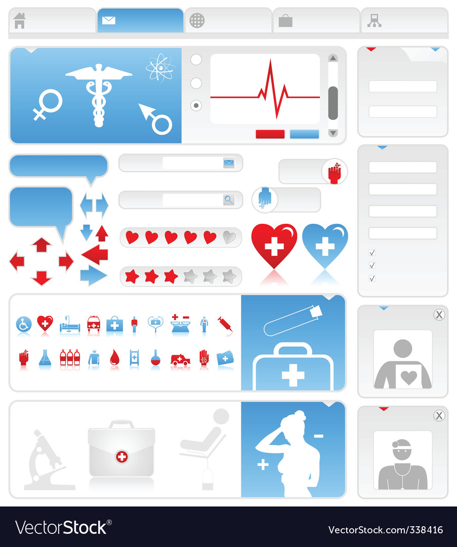 Medical site vector | Price: 3 Credit (USD $3)