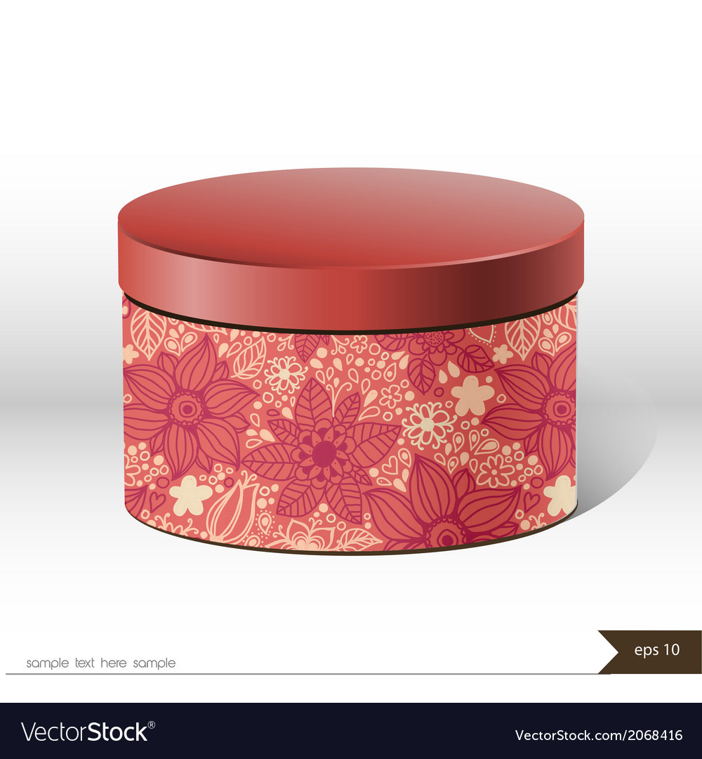 Packaging gift box on isolated background vector | Price: 1 Credit (USD $1)